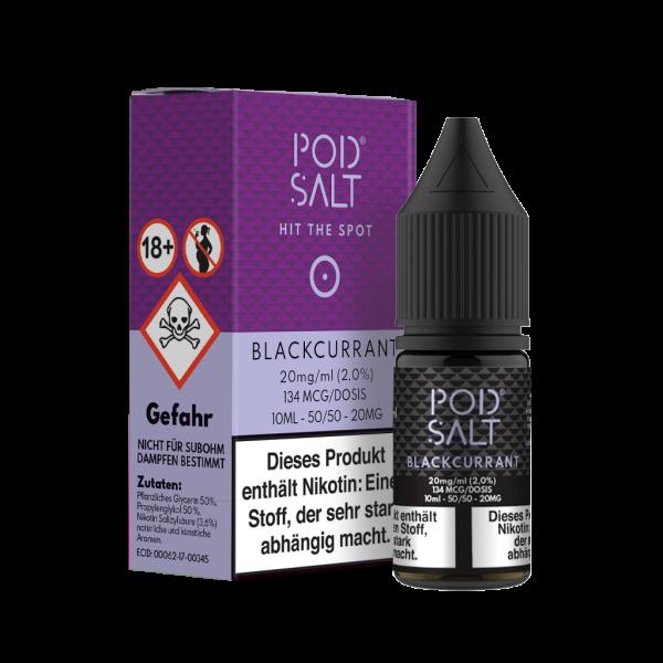 Pod Salt Liquid Blackcurrant 10 ml