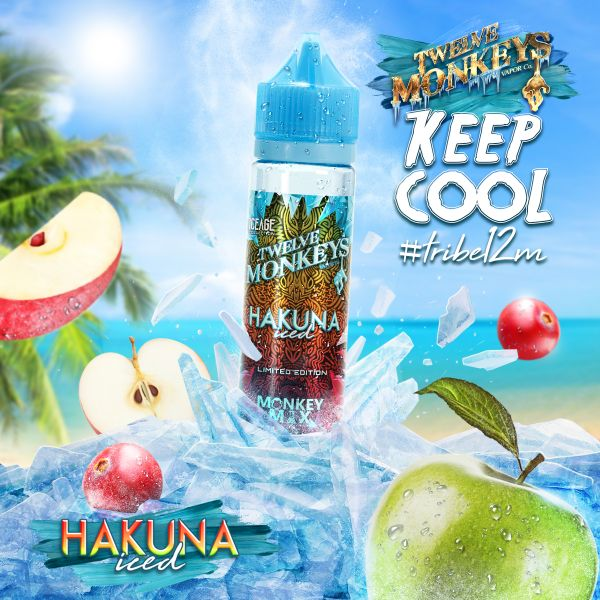 Twelve Monkeys Monkey Mix E-Liquid Hakuna Iced 50 ml