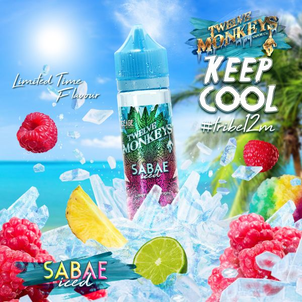 Twelve Monkeys Monkey Mix E-Liquid Sabae Iced 50 ml